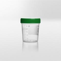 Nádobka PP, 125 ml, zelené viečko
