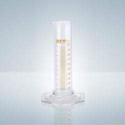 Odmerný valec B, nízky/široký, hnedá tlač, 10 ml