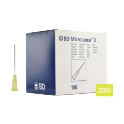Ihla MICROLANCE 20G (0.9×40), žltá (100 ks)