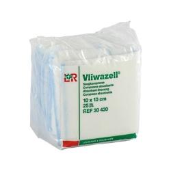 Vliwazell: kompresy 10×10cm, 25 ks