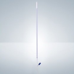Byreta priama B, modrý Schellbach, ventil, 10 ml