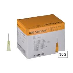 STERICAN 30G (0.3×12), LB, žltá (100 ks)