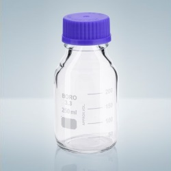 Fľaša s GL uzáverom, BORO-3.3, číra, 100 ml