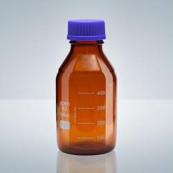 Fľaša s GL uzáverom, BORO-3.3, hnedá, 100 ml