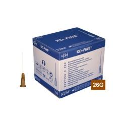 Ihla KD-FINE 26G (0.45×25), hnedá (100 ks)