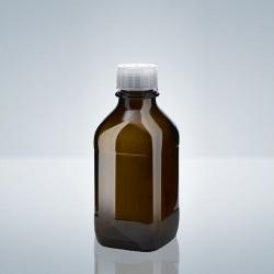 Fľaša, závit A32, hnedé sklo, 500 ml