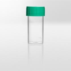 Nádobka PS, 40 ml, zelené viečko