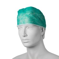 Chirurgická čiapka s úväzky (100 ks) - zelená