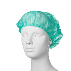 Jednorazová čiapka Baret (100 ks) - zelená