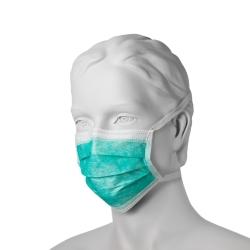 Chirurgická ústenka na úväzky (50 ks) - zelená
