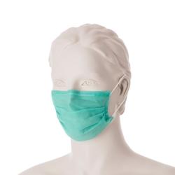 Hygienická ústenka s gumičkami (50 ks) -zelená