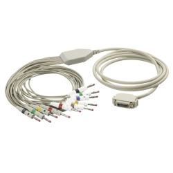 EKG kábel (HL) vcelku, 10 zvodov - banániky