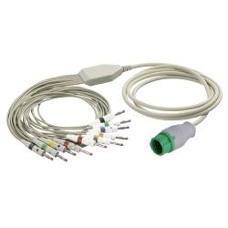 EKG kábel (MR) vcelku, 10 zvodov - banániky
