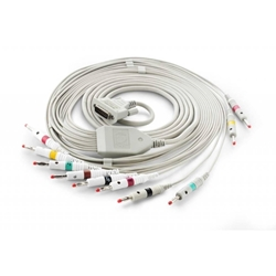 EKG kábel (NK1) vcelku, 10 zvodov - banániky