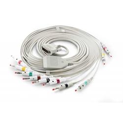 EKG kábel (NK2) vcelku, 10 zvodov - banániky