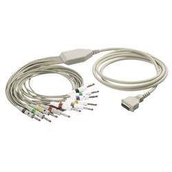 EKG kábel (FD1) vcelku, 10 zvodov - banániky