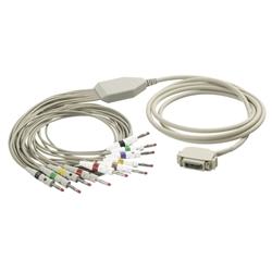 EKG kábel (KZ2) vcelku, 10 zvodov - banániky