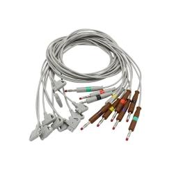 EKG kábel PW10-LB (kompatibilný) - zvody s banán.