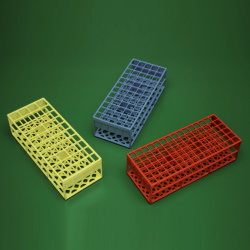 Autokláv. stojanček, zelený (60 skúmaviek <17 mm)