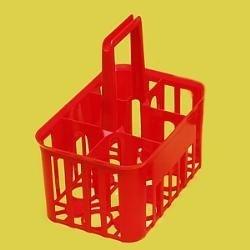 Prenosný košík na fľaše PP, 6 pozícií