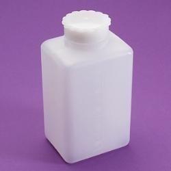 Fľaša hranatá PE širokohrdlá, 100 ml